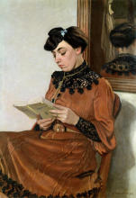 Vallotton, Donna che legge | Femme lisant | Woman reading