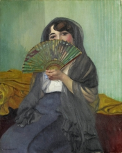 Vallotton, Donna con il ventaglio | Femme à l'éventail | Woman with fan
