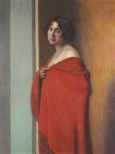 Vallotton, Donna con lo scialle rosso [1915].jpg