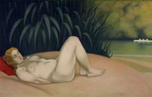 Vallotton, Donna nuda che dorme sulla riva.png