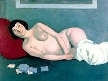 Vallotton, Donna nuda sdraiata con le carte azzurre.jpg