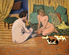 Vallotton, Donne nude con gatti | Femmes nues aux chats | Naked women with cats