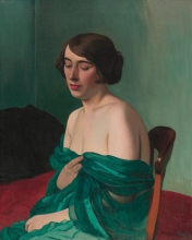 Vallotton, Giovane donna con la sciarpa verde.jpg