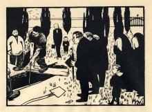 Vallotton, La sepoltura | L'enterrement | Burial