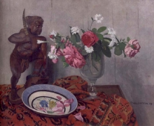 Vallotton, Natura morta con guerriero tonchinese | Nature morte au guerrier tonkinois | Still life with tonkinese warrior