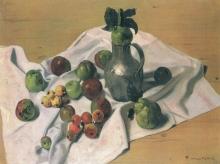 Vallotton, Natura morta con mele, cotogne e una brocca di metallo.jpg