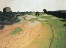 Vallotton, Paesaggio di landa bretone | Paysage de lande bretonne | Brittany moor landscape | Bretonische Heidelandschaft