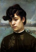 Vallotton, Ritratto di Juliette Lacour (modella) | Portrait de Juliette Lacour (modèle) | Portrait of Juliette Lacour (model)