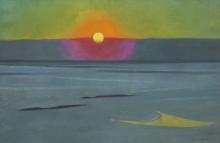 Vallotton, Tramonto nella foschia | Soleil couchant dans la brume | Sunset in the mist