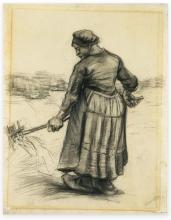 Van Gogh, Contadina che rivolta il fieno | Faneuse | Boerin hooi omwoelend | Pesant woman who turned the hay
