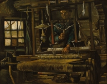 Van Gogh, Interno di bottega di tessitore | Weversinterieur | Intérieur d'atelier de tissage | Interior of weaver workshop