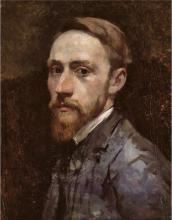 Vuillard, Autoritratto con colletto bianco | Vuillard au col blanc | Self portrait with white collar