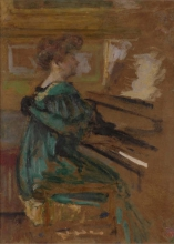 Vuillard, Donna al pianoforte (Madame Fontaine) | Femme au piano (Madame Fontaine) | Woman at piano (Madame Fontaine)