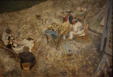 Vuillard, La partita a dama ad Amfréville | La partie de dames à Amfréville | The game of checkers in Amfréville