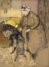 Vuillard, Madame Vuillard china su una stufa a cherosene | Madame Vuillard se penchant sur un poêle à kérosène | Madame Vuillard leaning over the paraffin stove