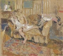 Vuillard, Nudo nel salotto a righe   Nu dans le salon rayé   Nude in the striped lounge