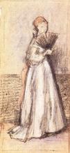 Whistler, Signora con ventaglio | Lady with a fan