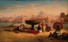 Félix Ziem, Costantinopoli. Veduta dalla riva asiatica con astanti