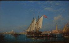 Félix Ziem, Il Canal Grande, Venezia | El Gran Canal, Venecia
