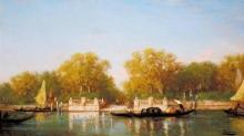 Ziem, Venezia, Il molo all'ingresso del giardino francese | Venise, l'embarcadère à l'entrée du jardin français