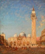Félix Ziem, Venezia, Piazza San Marco e Campanile