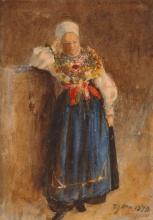 Zorn Ragazza in costume tradizionale | Kulla i folkdräkt | Girl in traditional costume