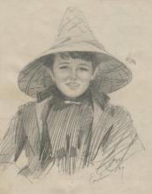 Zorn, Ada Lymon (Donna con un grande cappello) | Ada Lymon (Woman in a large hat)