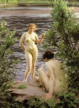 Zorn, Arbusti di salice | Videbuskar | The willow, two nudes by water