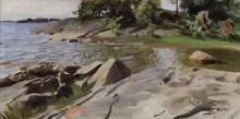 Zorn, Baia nell'arcipelago. Leggera brezza estiva | Skärgårdsvik - Lätt sommarbris | Bay in the skerries - Light summer breeze