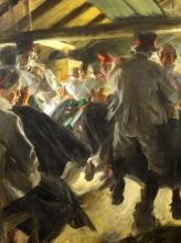 Zorn, Ballo nel cottage di Gopsmor | Stampdans i Gopsmorstuga | Dance in Gopsmor cottage