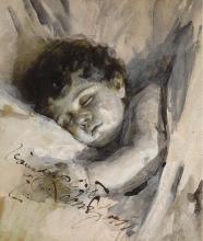 Zorn, Bambino che dorme | Sovande barn | Sleeping child