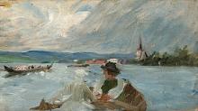 Zorn, Barche che navigano sul Siljan verso la chiesa | Kyrkbåtar på Siljan | Rowing across to church at Siljan