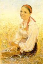Zorn, Donna di Orsa in un campo di segale | Orsakulla i rågåker | Orsa woman in a field of rye