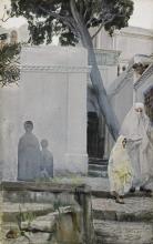 Zorn, Donne fuori dalla moschea Sidi Abderrahman, Algeri | Women outside the Sidi Abderrahman mosque, Algiers