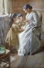 Zorn, I piccoli Mayer con la loro tata | Barnen Mayer med sin bonne | The children Mayer with their bonne