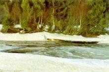 Zorn, Il fiume vicino Gopsmor, inverno | Älven vid Gopsmor, vintertid | The river by Gopsmor, wintertime