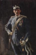 Zorn, Il principe Carl che indossa l'uniforme blu della Guardia Reale   Prins Carl klädd Kungliga livgardets blå uniform   Prince Carl wearing the Royal Guards' blue uniform