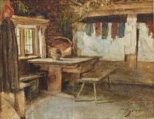 Zorn, Interno di casa di Mora | Interiör av Morastuga | Interior of Mora cottage