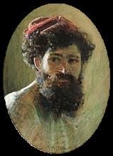 Zorn, Italiano con berretto rosso | Italienare med röd mössa | Italian man with red cap