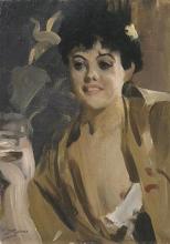 Zorn, La fumatrice di sigaretta. Studio | Cigarettrökerskan. Studie | Cigarette smoker