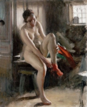 Zorn, Maria | Female nude in interior