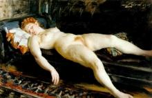 Zorn, Modella dormiente | Sovande modell | Sleeping model