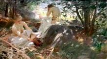Zorn, Motivo da Dalarö, le modelle si vestono | Motiv från Dalarö, modellerma kläda på sig | Landscape from Dalaro, the models getting dressed
