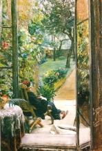 Zorn, Nel giardino della padrona di casa a Richmond |  | I värdinnans trädgård i Richmond | In the hostess's garden in Richmond