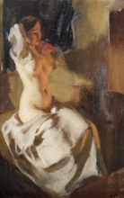 Zorn, Nudo alla luce del fuoco | Naket i eldsken | Nude in the firelight