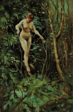 Zorn, Nudo femminile su un albero | Female nude on a tree