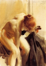 Zorn, Nudo femminile   A female nude