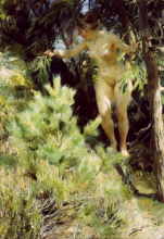 Zorn, Nudo sotto un abete | Nude under a fir | Naken under en gran