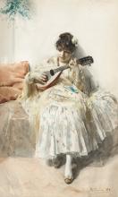 Zorn, Ragazza che suona il mandolino | Mandolinspelerskan | Girl playing mandolin