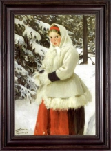Zorn, Ragazza di Orsa in abito invernale | Orsakulla i vinterdräkt | Girl from Orsa in winter costume